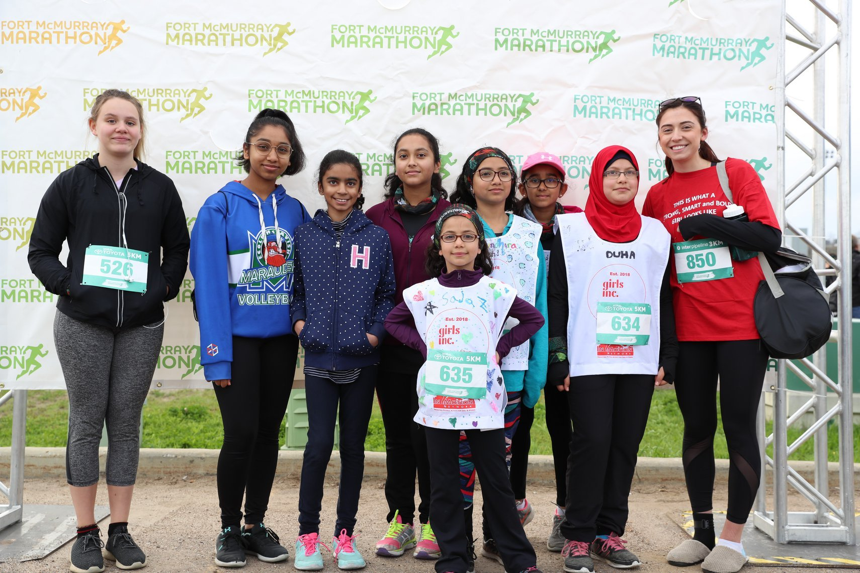 Girls Inc of Northern Alberta Run Club participate in Fort McMurray Marathon 2019