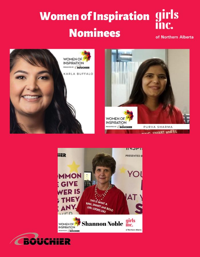 Girls Inc of Northern Alberta Women of Inspiration Nominees