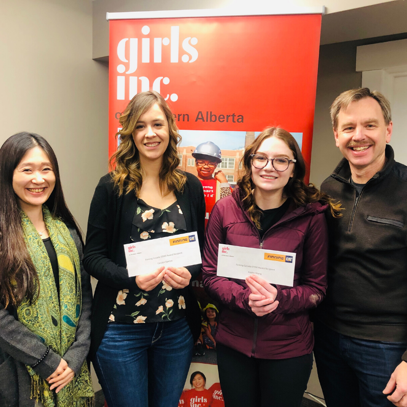 Girls Inc of Northern Alberta and Finning Canada announce first scholarship recipients