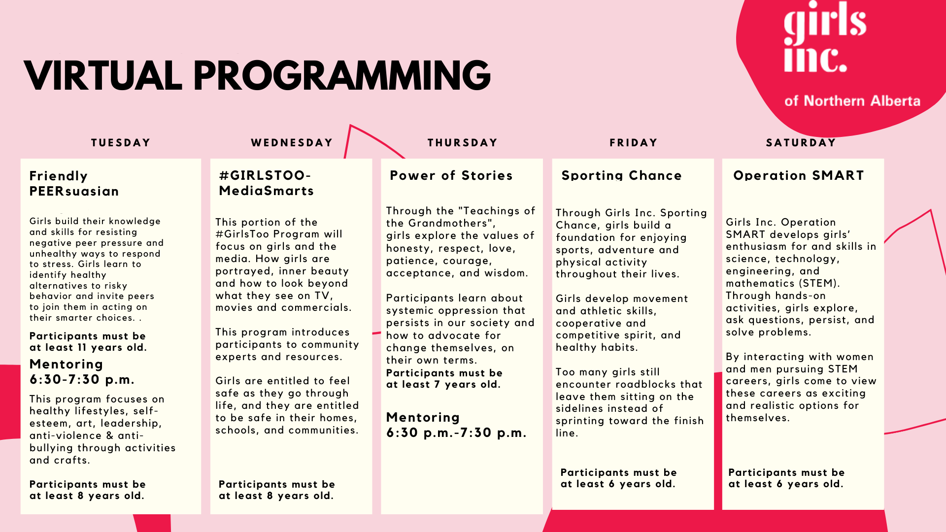 Girls Inc of Northern Alberta Online Programming