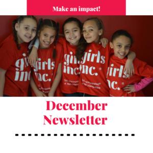 Girls Inc of Northern Alberta December Newsletter